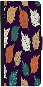 Snoogg Seamless Leaf Pattern Designer Protective Phone Flip Case Cover For Samsung Galaxy J2