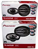 PIONEER TS-A1674R 6.5' + TS-A6994R 6x9 Speakers Package