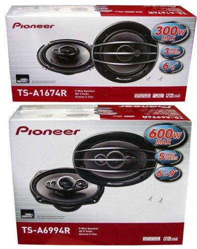 "Pioneer Ts-A1674R 6.5"" + Ts-A6994R 6X9 Speakers Package"