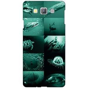 Samsung Galaxy A7 SM-A700FD Back Cover - Navy Blue Designer Cases