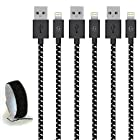 Go Beyond(TM) 10 Feet 8 Pin iPhone 5/6 USB Data Sync / Charging Cable for iPhone 6/6 Plus, iPhone 5/5S/5C , iPad Mini, iPod Touch 5th Generation (Bundle of 3 Black Nylon, SHIPPED IN SAME BUSINESS DAY. Compatible with iOS 8)