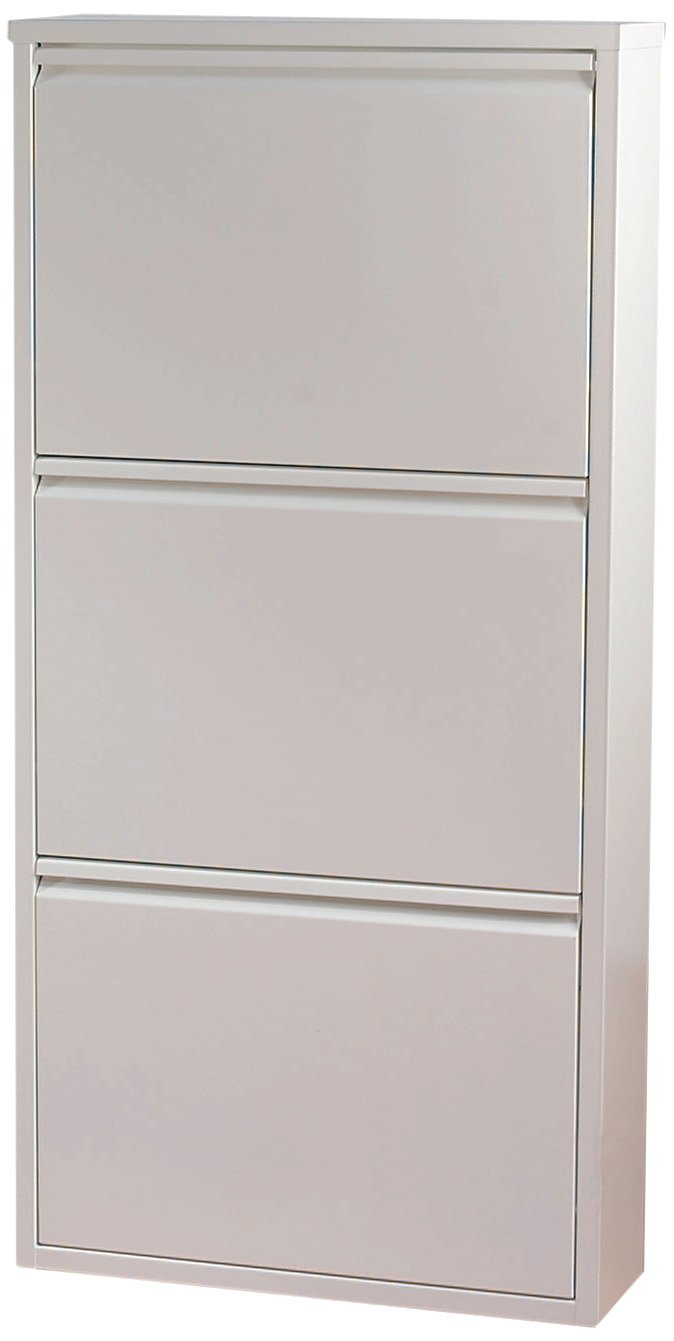 Kare 9287 Shoe Drawer Unit Caruso 3 Piece White       Customer reviews and more information