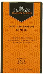 Harney and Sons Premium Tea Bags, Hot Cinnamon Spice, 20 Count