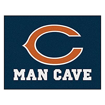 FANMATS 14280 NFL Chicago Bears Nylon Universal Man Cave All-Star Mat