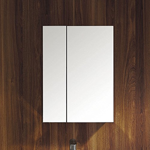 Awesome UEnjoy Stainless Steel Wall Mounted Bathroom Storage Cabinet Mirror Double Door Deal