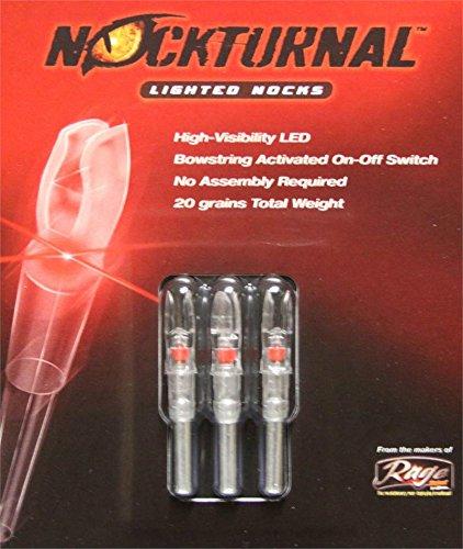 Nockturnal Lighted Arrow Nock G Model 3/Pkg Red