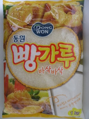 Dongwon brand Crispy Bread Crumbs for Frying. 2.2 LBS Package (Pack of 8)