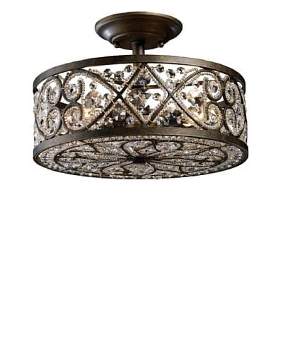 Artistic Lighting Amherst 4-Light Semi-Flush, Antique Bronze
