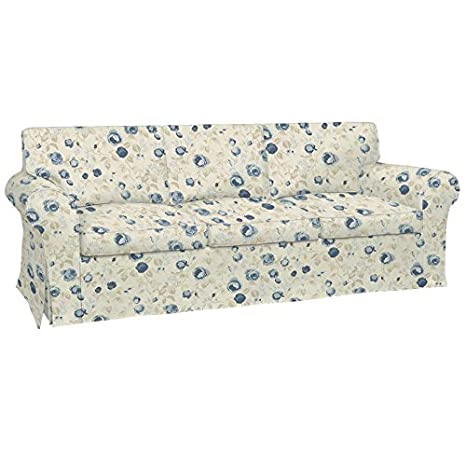 Ektorp 3er Bettsofa Bezug MAUDE CHAMBRAY Printed Cotton Designed by Clarke & Clarke