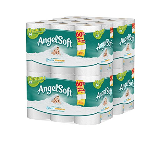 Angel Soft 48 Double Rolls Bath Tissue, 12