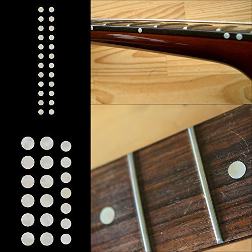 Fretboard Markers Inlay Sticker Decals for Guitar and Bass - Custom Dots Set-WS (Fretboard Side Marker compare prices)