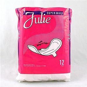 Julie Brand Super Maxi Pad w/Wings Case Pack 18