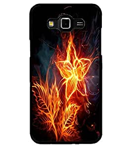 ColourCraft Flaming Flower Design Back Case Cover for SAMSUNG GALAXY GRAND 3