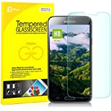 JETech® Premium Tempered Glass Screen Protector Retail Packaging for Samsung Galaxy S5 SV