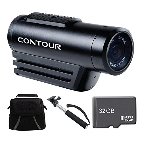 "Purchase Contour ROAM3 Action Cam Ready For Adventure Bundle - Includes Camera, Telescopic 43"" ..."