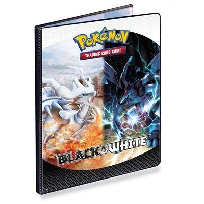 Asmodee - Accessoire de jeu de cartes à jouer et à collectionner - Portfolio Pokemon Black et White - Noir et Blanc A4 pour 180 cartes