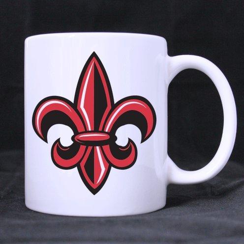 Fleur De Lis Logo Ceramic Custom White Mug(11 Ounce)