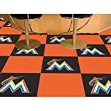 Miami Marlins MLB Team Logo Carpet Tiles
