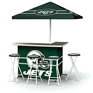 Best of Times NFL Patio Bar and Tailgating Center Deluxe Package- NY Jets by Best of Times, LLC