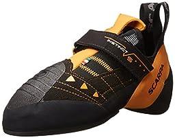 Scarpa Instinct VS Climbing Shoe, Black/Orange, 35.5 EU/4.5-5 M US