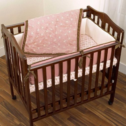 Daniella 3 piece baby portacrib bedding set by cocalo for Best value baby crib