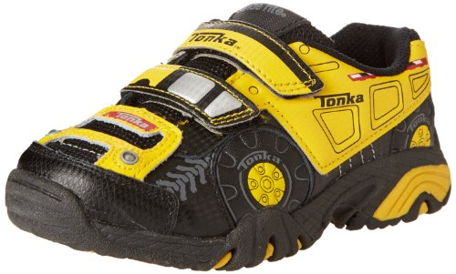 Stride Rite Tonka Truck Lighted Sneaker (Toddler),Black/Yellow,7 M Us Toddler