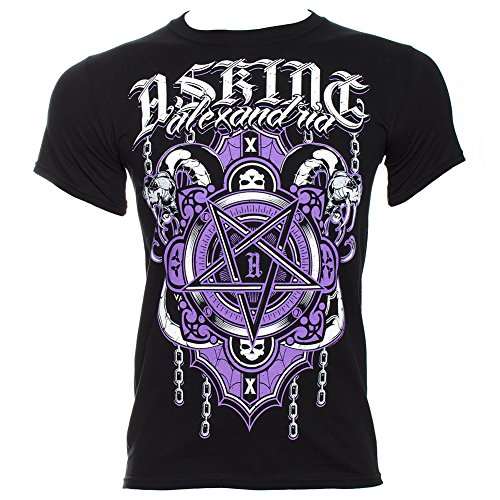 T Shirt Asking Alexandria Pentagramma (Nero) - Medium