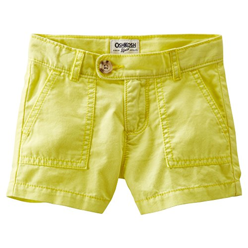 OshKosh B'gosh Baby Girls 4-Pocket Twill Shorts (12 Months, Yellow)
