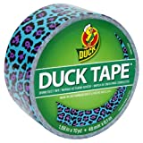 Duck Brand 281518 Blue Leopard Duct Tape, 1.88-Inch by 10 Yards, Single Roll
