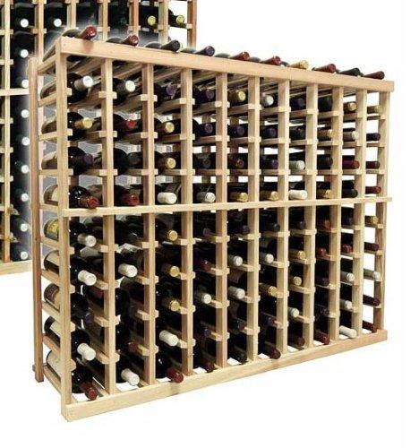 3 Ft. 10-Column Bottle Wine Rack (Premium Redwood - Dark Walnut Stain) front-629927