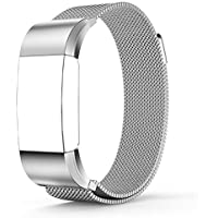 Tenker Fitbit Charge 2 Stainless Steel Band ( Multiple Colors)