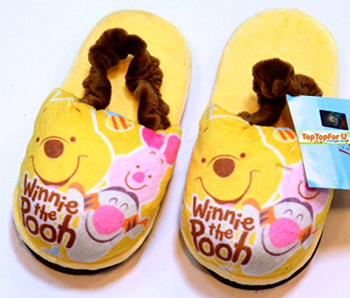 Authentic Disney Winnie The Pooh Tigger Piglet Soft Warm Kids Rubber Band Slippers Antiskid front-110021