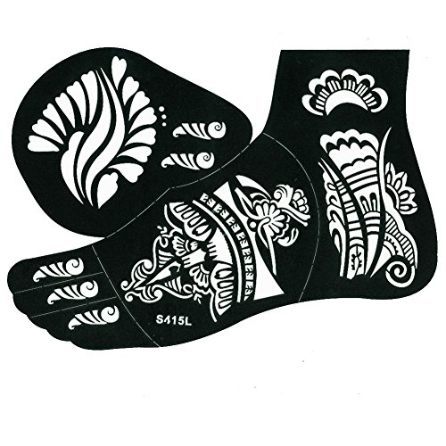 justfox henna tattoo schablone f r den linken fu. Black Bedroom Furniture Sets. Home Design Ideas
