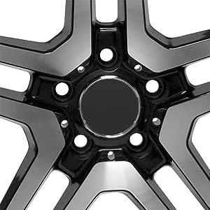 18 inch Mercedes Benz black wheels rims fit C CL CLS E ML S SL AMG
