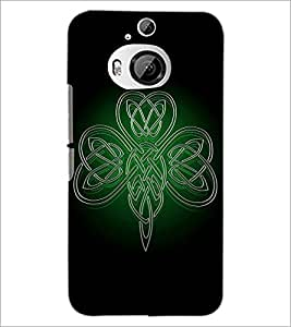 PrintDhaba ButterFly D-1980 Back Case Cover for HTC ONE M9 PLUS (Multi-Coloured)