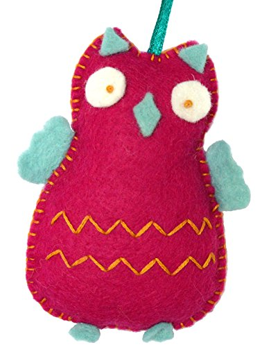 Corinne Lapierre feutre Hibou Craft Mini Kit de couture, rose Cerise
