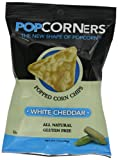 Medora Snacks Popcorners Popped Corn Chips, White Cheddar, 1.1-Ounce Packages (Pack of 40)