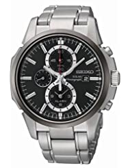 Seiko SSC087 Black Dial Chronograph Men's Watch