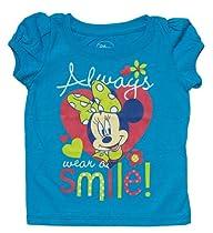 "Disney Minnie Mouse ""Wear a Smile"" Blue Toddler T-Shirt - 2T"