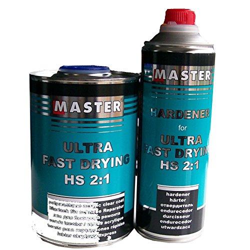 Master Troton acrilico vernice trasparente 2K Clear Coat Ultra Fast Drying UHS 2: 11L + indurente 1: 20.5L