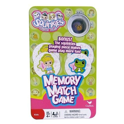 Squinkies Memory Match Game in Storage Tin with Figure - 1