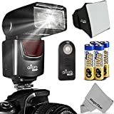 Altura Photo (AP-UNV1) Speedlite Flash Kit for Canon Nikon Sony Panasonic Olympus Fujifilm Pentax Sigma Minolta Leica and any Digital Camera with a Standard Hot Shoe Mount - Includes: Altura Photo Flash + Softbox Flash Diffuser + Altura Photo Universal Remote Control (Nikon D3200 D3100 D3000 D3300 D5000 D5100 D5200 D5300 D7000 D7100 D200 D300 D600 D610 D700 D750 D800, Canon T3i T4i T5i SL1 60D 70D 5D 6D 7D)