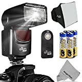 Altura Photo (AP-UNV1) Speedlite Flash Kit for Canon Nikon Sony Panasonic Olympus Fujifilm Pentax Sigma Minolta Leica and any Digital Camera with a Standard Hot Shoe Mount - Includes: Altura Photo Flash + Softbox Flash Diffuser + Altura Photo Universal Remote Control (Nikon D3200 D3100 D3000 D3300 D5000 D5100 D5200 D5300 D7000 D7100 D200 D300 D600 D610 D700 D750 D800 - Canon T3i T4i T5i SL1 60D 70D 5D 6D 7D)