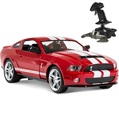 BCP 1/14 RC Ford Mustang Shelby GT500 Gravity Sensor Remote Control Car Red (Mustang Battery Car compare prices)