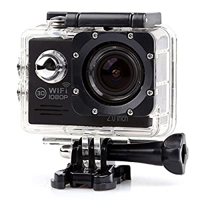 1080P FHD 12M Wifi Waterproof 30m Outdoor Sports Action Video Camera DV YOCI Body Mounted Camcorder with NT96655 DSP 2.0 inch LCD 170 Degree Wide Angle Lens 16 Sports Accessories Included (Black) by YOCI Technology