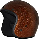Daytona Metal Flake D.O.T. Approved 3/4 Shell Cruiser Motorcycle Helmet - Root Beer / Small
