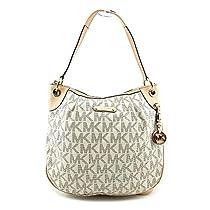 Michael Kors Bedford Large Convertible Shoulder Bag in Vanilla - Cream