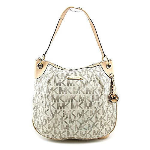 a9b187964452 Michael Kors Bedford Large Convertible Shoulder Bag in Vanilla - Cream - Michael  Kors