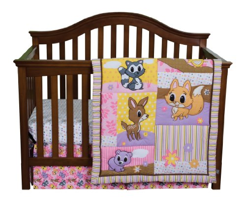 Trend Lab 3 Piece Crib Bedding Set, Lola Fox and Friends
