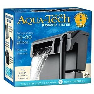 Aqua tech power aquarium filter 10 to 20 for 20 gallon fish tank filter
